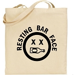 Resting Bar Face.  Canvas Tote Bag